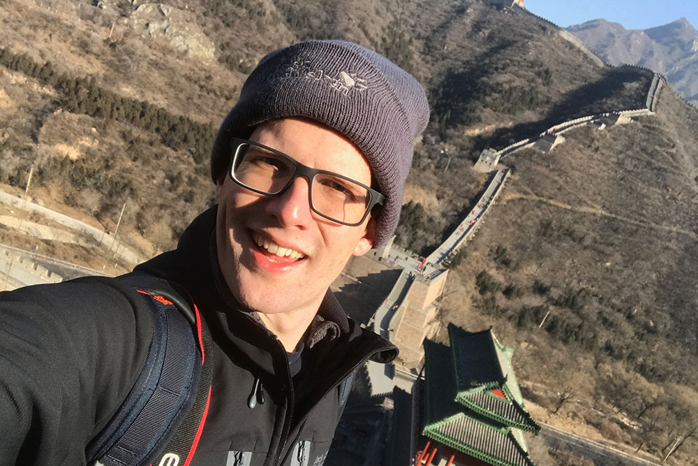 jonny on great wall of china