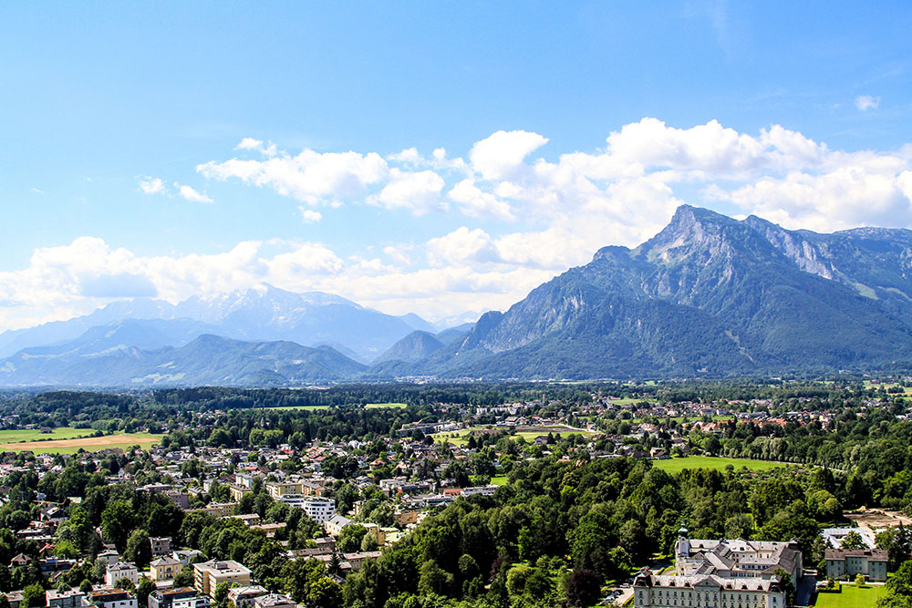 The view from Salzburg's fort