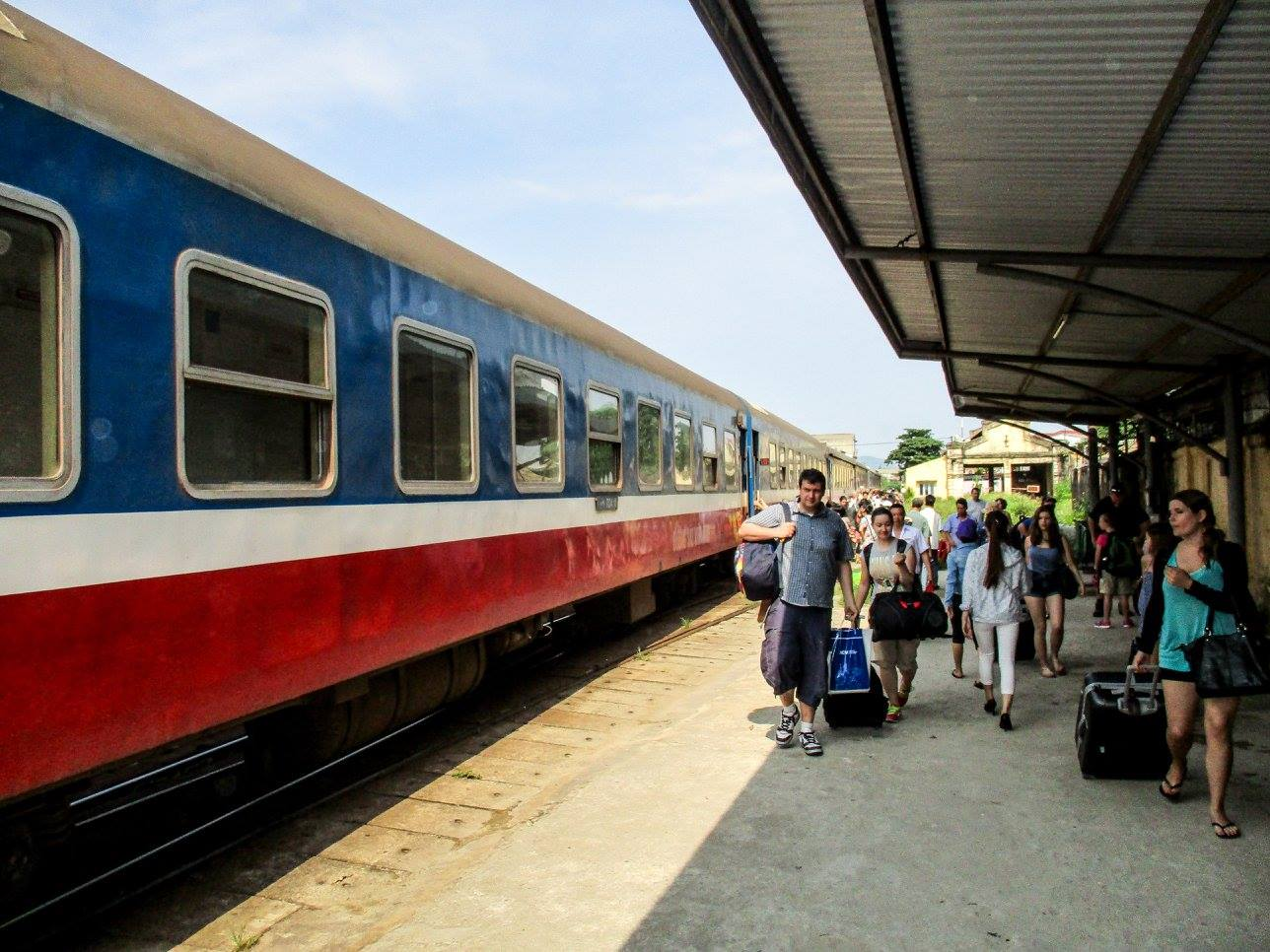 travelling in Vietnam aboard the Reunification Express