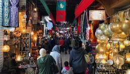 the busy Souks in Marrakech