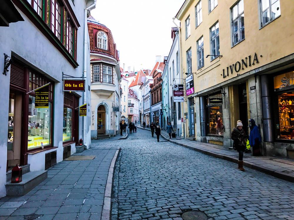 Streets in Tallinn Old Town